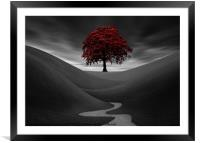 The Red Tree, Framed Mounted Print