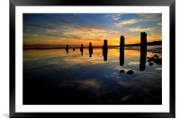 Low tide reflections, Framed Mounted Print