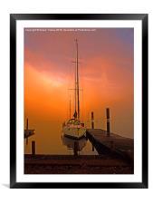 Sunrise at Windermere, Framed Mounted Print