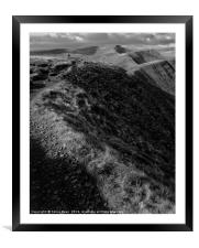 Brecon Beacons Mountain hike, Framed Mounted Print