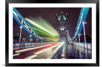 Green Tower, Framed Mounted Print