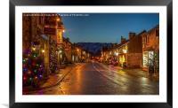 Castleton Main Street, Derbyshire, Framed Mounted Print