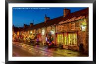 Main Street, Castleton, Derbyshire, Framed Mounted Print