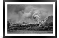61034 'Chiru' leaving Grosmont, Framed Mounted Print