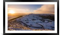 A snowy day on Mam Tor, Framed Mounted Print