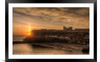 Sun rising over the Abbey, Framed Mounted Print