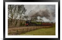 'Tornado' 60163 on the North Yorkshire Moors Railw, Framed Mounted Print