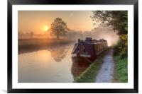 Hatton - Grand Union Canal., Framed Mounted Print