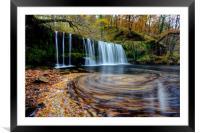 Sgwd Ddwli Uchaf - Waterfall, Wales, Framed Mounted Print