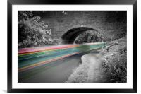 Grand Union Canal Speeding Boat, Framed Mounted Print