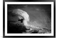 Porthcawl storm Wales, Framed Mounted Print