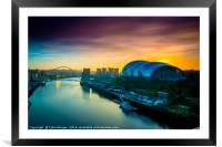 Sage Sunrise Gateshead, Framed Mounted Print
