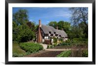 Anne Hathaway's Cottage, Framed Mounted Print