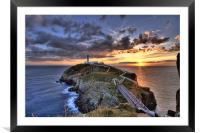 South Stack Lighthouse, Framed Mounted Print