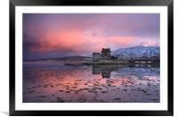 Eilean Donan Castle at sunrise, Framed Mounted Print