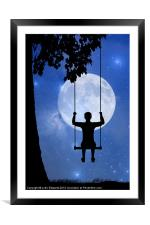 Childhood dreams, The Swing, Framed Mounted Print