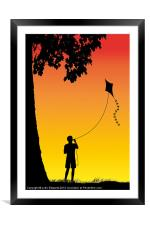 Childhood dreams, The Kite, Framed Mounted Print