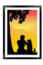 Childhood dreams, Best Friends, Framed Mounted Print