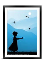 Childhood dreams, Feeding Time, Framed Mounted Print