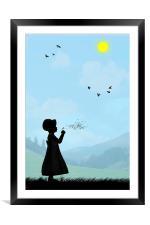 Childhood dreams, One O Clock, Framed Mounted Print