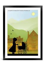 Childhood Dreams, The Pram, Framed Mounted Print