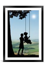 Childhood Dreams, Push Me, Framed Mounted Print