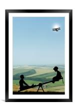 Childhood Dreams, The Seesaw, Framed Mounted Print