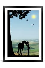 Childhood Dreams, The Pony, Framed Mounted Print