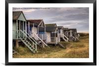 Old Hunstanton Beach Huts, North Norfolk, UK, Framed Mounted Print