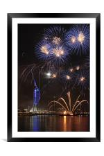 Spinnaker Tower fireworks, Framed Mounted Print