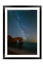 Milky Way over Durdle Door, Framed Mounted Print