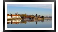Langstone Mill and The Royal Oak Public House, Framed Mounted Print