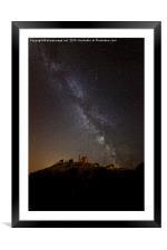 Corfe Castle Milky Way, Framed Mounted Print