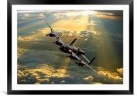 Above the heavens, Framed Mounted Print