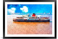 Mersey Ferry in Liverpool UK, Framed Mounted Print