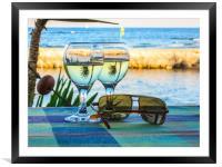 Summer still life , Framed Mounted Print
