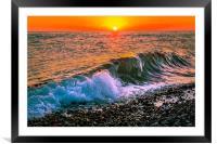 Sunset splash, Framed Mounted Print