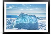 Pressure ridge of lake Baikal, Framed Mounted Print