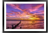 Dramatic Sunset at Picnic Point Park, Framed Mounted Print