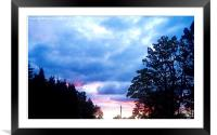 Sunset  , Framed Mounted Print