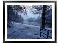 Dunkeld In The Snow , Framed Mounted Print