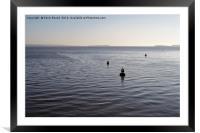 Navigation Buoys, Framed Mounted Print