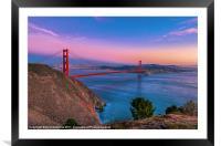 Golden Gate Bridge & the San Francisco Bay, Framed Mounted Print