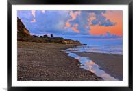 Tranquility. A section in Bacara Beach in Santa Ba, Framed Mounted Print