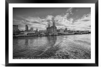 The Liver building, Framed Mounted Print