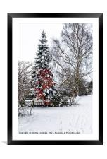 Winter wonderland, Framed Mounted Print