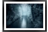 Blue River, Framed Mounted Print