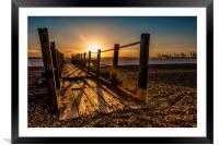 Evening Pier, Framed Mounted Print
