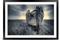 Boat, Framed Mounted Print