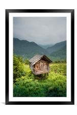 Living in a mountains , Framed Mounted Print